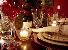 christmas decorating ideas for dining room buffet table setting