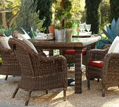 all weather dining table torrey all weather wicker rectangular fixed dining table espresso