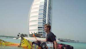 kiteboarder jumping off burj al arab video popsugar middle