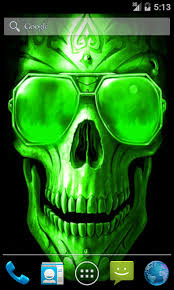 android freeware green skull live wallpaper free android apps android freeware