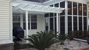 White Vinyl Pergola by Engineered Vinyl Pergola Kit Patio Cover South Carolina