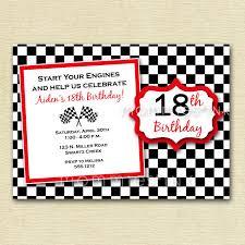 Printable Invitation Card Stock Checkered Flag Birthday Party Invitation Printable