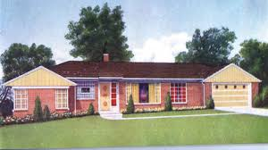 long ranch style house plans 1960 1950s house plans ranch 1960