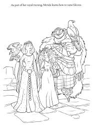 Brave Coloring Pages Merida S Family Coloringstar Disney Brave Coloring Pages