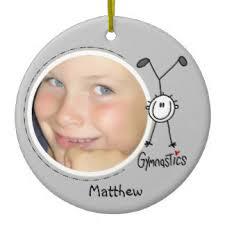 gymnastics ornaments keepsake ornaments zazzle