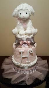 little lamb baby diaper cake baby shower centerpiece gift