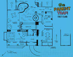 Movie Floor Plans The Parent Trap 1961 Ranch Sketch Art Direction By Carroll