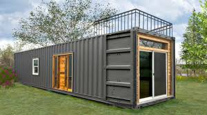 minimalist rustic industrial shipping container home small home