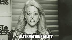 Side By Side Meme Generator - kellyanne conway from the other side alternative reality image