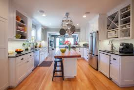 butcher block island kitchen rustic with oven hood kitchen island