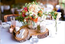 rustic wedding centerpieces rustic wedding centerpiece tree bark slice rustic