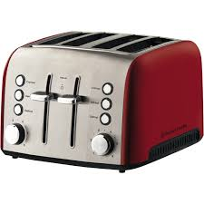 Kitchenaid 4 Slice Toaster Red Russell Hobbs Rht54red Heritage Vogue 4 Slice Toaster Red At The