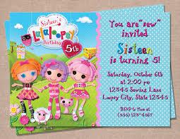 lalaloopsy party invitations group birthday cards