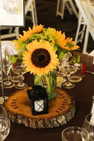 sunflower centerpieces sunflowerwedding groheflorist sunflower masonjarcenterpiece