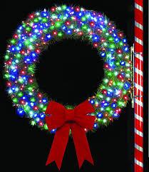 4 rocky mountain pine wreath w wa led mini lights