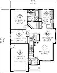 1100 square feet traditional style house plan 2 beds 2 00 baths 1100 sq ft plan