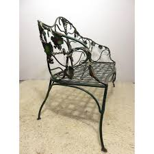 Vine Chair Vintage Wrought Iron Garden Bench Wrapped In Grape Vine Chairish