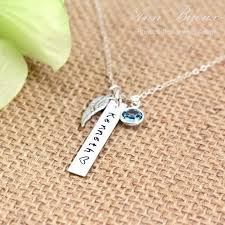Personalized Sterling Silver Necklace Personalized Sterling Silver Bar Necklace Hand Stamped Jewelry