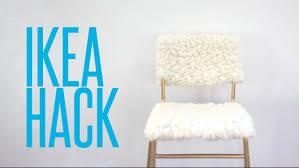 diy ikea hack tejn sheepskin u0026 stig bar stool youtube