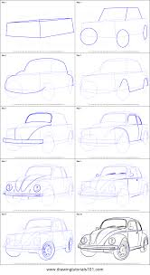 volkswagen drawing how to draw vintage volkswagen beetle printable step by step