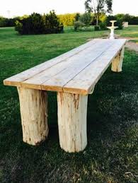 Diy Wood Picnic Table by Log Picnic Table Made From One Log All Cuts Made With A Chainsaw