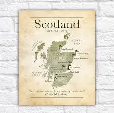 golf gift gifts for golf lovers scotland golf tour scottish map