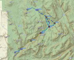 Map Subway by Bluugnome Com Canyoneering The Subway Zion National Park Utah