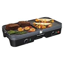 3 In 1 Kitchen by Hamilton Beach Black 3 In 1 Grill Griddle 38546 Target