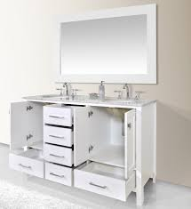 60 Inch Double Sink Bathroom Vanities by Stufurhome 60 Inch Malibu Pure White Double Sink Bathroom Vanity