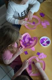 Window Decorations For Valentine S Day by Paper Plate Heart Stained Glass Windows Valentine U0027s Day