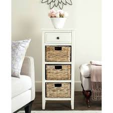 distressed white side table side table with drawers distressed white 4 drawer storage side table