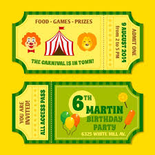 wedding invitation clown birthday greeting card vector show clowns two vintage circus carnival birthday party invitation tickets