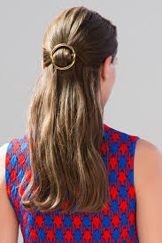 hair barrette céline s circle clip is s best minimalist hair accessory