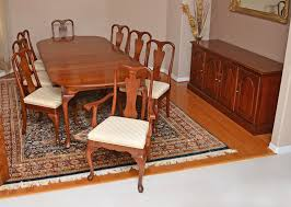 queen anne style cherry dining room set