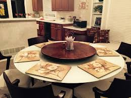 40 Inch Table Large Kitchen Wood Lazy Susan For Dining Table Up To 40 Inch Diameter