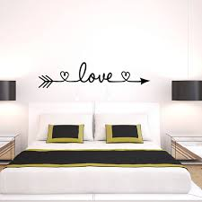 New Design Love Arrow Wall Decals Vinyl Removable Bedroom Wall