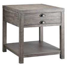 grey washed end tables world bridgeport end table wayfair
