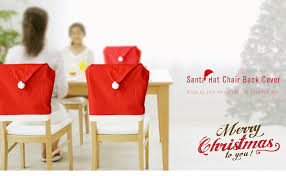 santa hat chair covers yeduo hort santa claus hat chair covers christmas dinner table