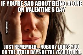 Alone On Valentines Day Meme - if you re sad about being alone on valentine s day humoar com