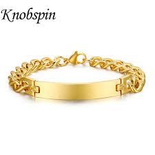 monogram bracelet gold men women monogram bracelet stainless steel name bracelet