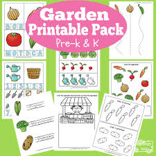 garden printable preschool and kindergarten pack itsy bitsy fun