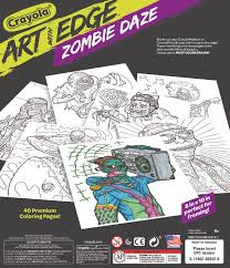 crayola art with edge zombie daze collection coloring pages toys
