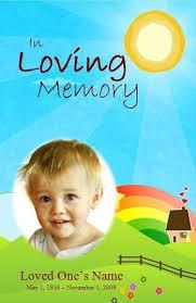 Funeral Program Samples Child Funeral Program Template Funeral Memorial Order Of