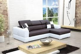 canapé d angle noir cdiscount canapé design d angle madrid iv cuir pu noir et blanc canapés d