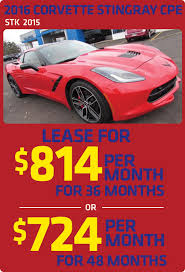 corvette lease payment 2016 corvette lease specials in howell mi chion chevrolet of