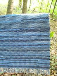 Denim Rag Rug Loom Woven Rug Large Rug Woven Rag Rugs Shaggy Rug By Laleshopniki
