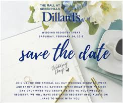 only wedding registry dillard s wedding registry event february 24th enchanted brides