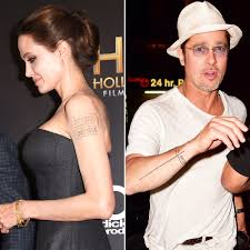 angelina jolie brad pitt u0027s tattoos revisited after split