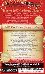 christmas party menu u2013 azzurro restaurant