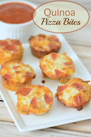 Backyard Bites Quinoa Pizza Bites Almost Supermom